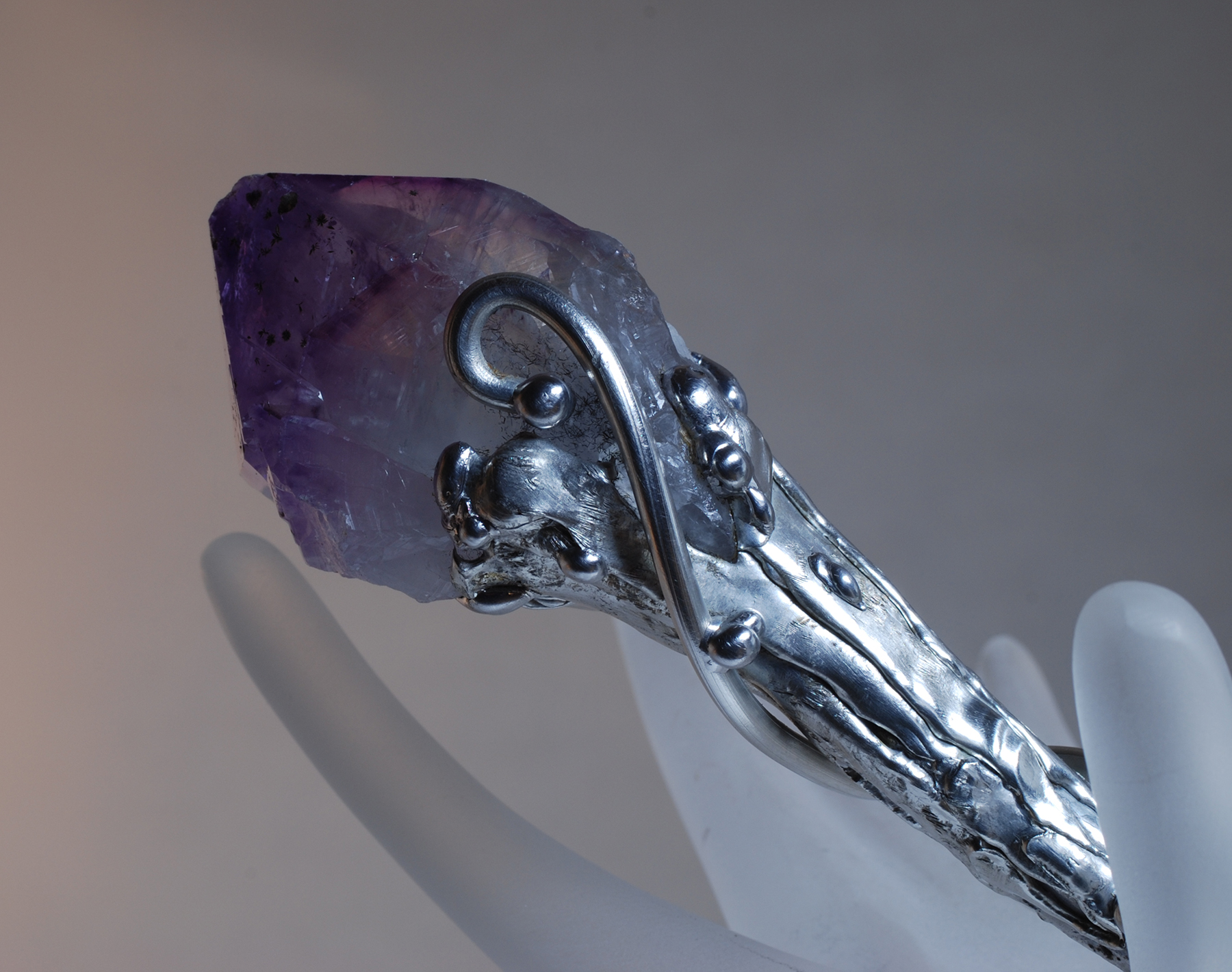 Amethyst Apatite Magic Wand - Click Image to Close