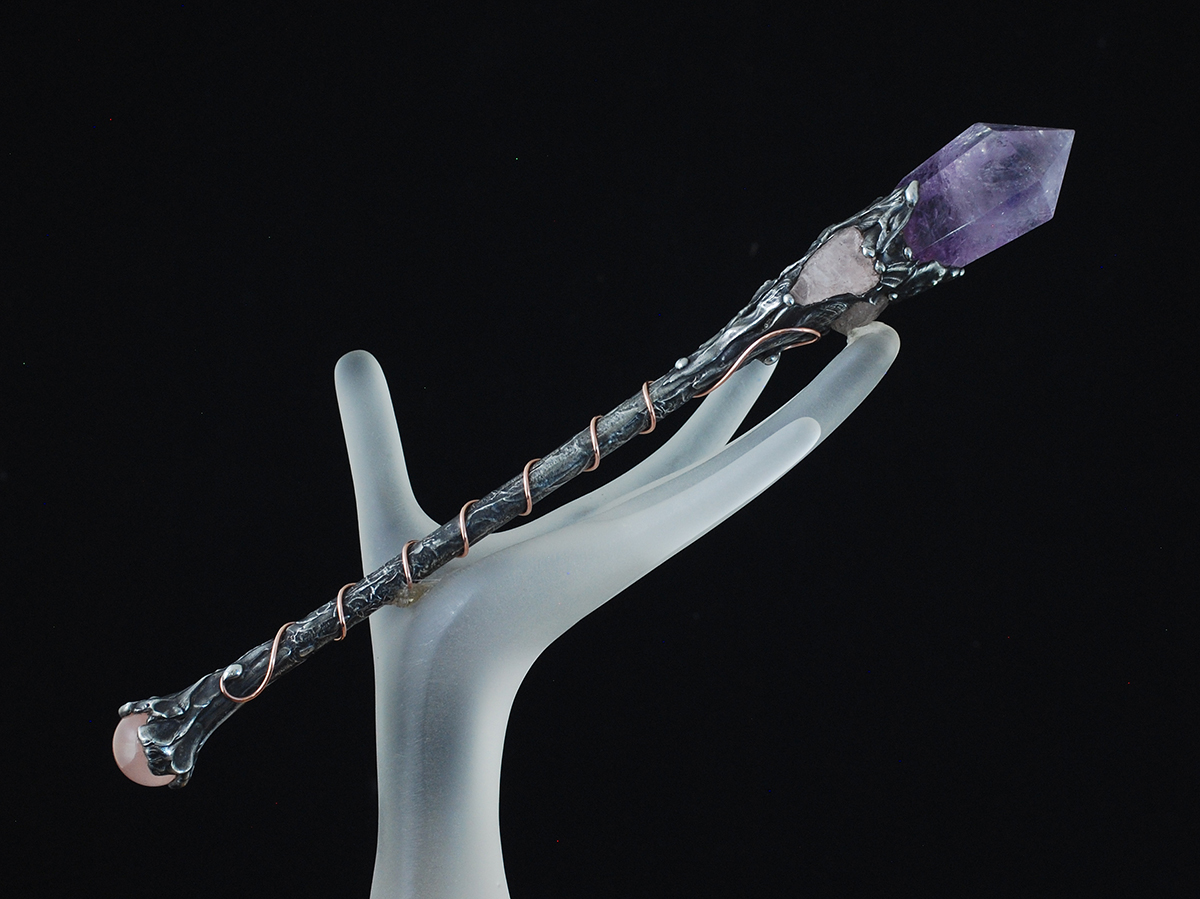 Amethyst Divine Intuition Power Wand - Click Image to Close