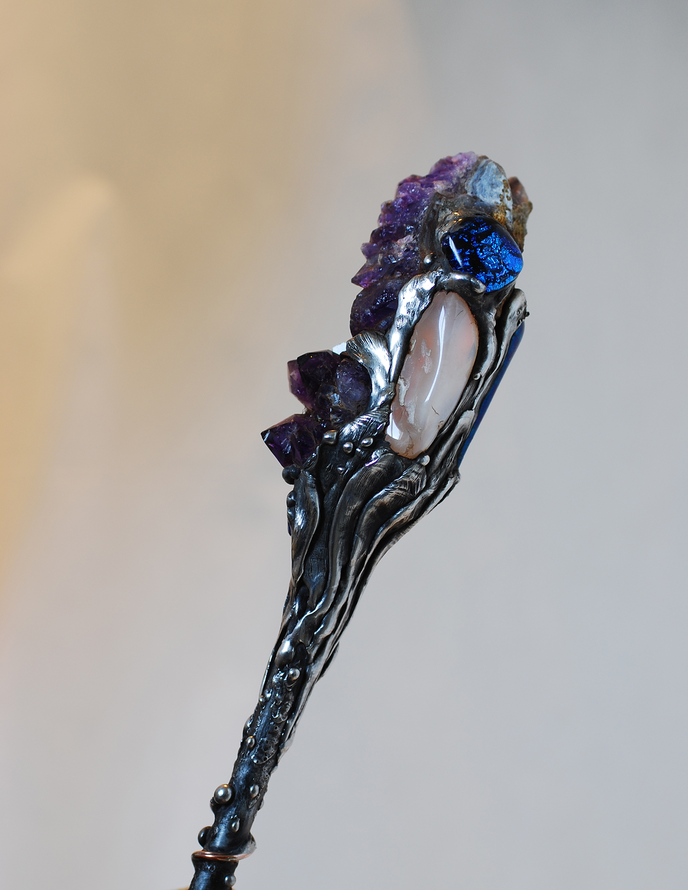 Titanium Crystal Amethyst Magic Wand - Click Image to Close